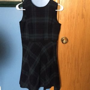 Cute Plaid Mid Length Dress
